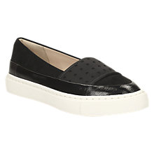 Buy Clarks Coll Amoure Flatform Slip On Trainers, Black Online at johnlewis.com