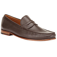 Buy John Lewis Lloyd Penny Loafers, Brown Online at johnlewis.com