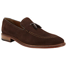 Buy John Lewis Suede Tassel Loafers, Brown Online at johnlewis.com