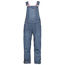 Buy Fat Face Girls' Pinstripe Dungarees, Navy Online at johnlewis.com