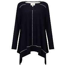 Buy East Contrast Stitch Jumper, Ink Online at johnlewis.com