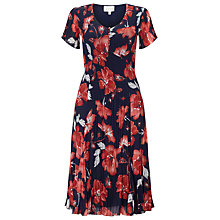 Buy East English Rose Pleated Dress, Ink Online at johnlewis.com