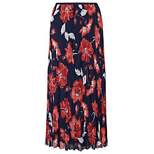 Buy East English Rose Pleat Skirt, Ink Online at johnlewis.com