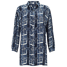Buy East Berlin Check Silk Shirt, Ink Online at johnlewis.com