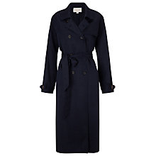 Buy East Tencel Trench Coat, Ink Online at johnlewis.com