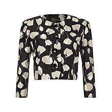 Buy Precis Petite Tulip Print Jacket, Black/Multi Online at johnlewis.com