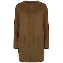 Buy Jaeger Double-Faced Wool Duster Coat, Khaki Online at johnlewis.com
