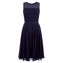 Buy Hobbs Della Dress, Navy Orch Pink Online at johnlewis.com