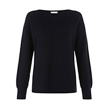Buy Hobbs Rosie Jumper, Navy Ivory Online at johnlewis.com
