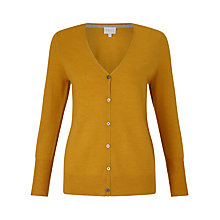 Buy East V Neck Merino Cardigan, Dark Yellow Online at johnlewis.com