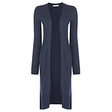 Buy Oasis All-Over Rib Longline Edge To Edge Cardigan, Navy Online at johnlewis.com