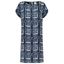 Buy East Berlin Check Silk Shift Dress, Ink Online at johnlewis.com