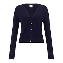 Buy East Cropped V Neck Cardigan, Ink Online at johnlewis.com