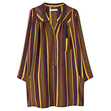 Buy Mango Striped Shirt Dress, Khaki/Multi Online at johnlewis.com