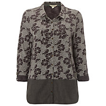 Buy White Stuff Tulum Jersey Shirt, Yin Grey/Multi Online at johnlewis.com