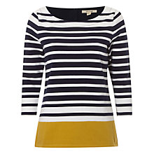 Buy White Stuff Oxford Stripe Jersey Top, Navy/Multi Online at johnlewis.com