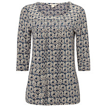 Buy White Stuff Victoria Jersey Top, Scenic Blue Online at johnlewis.com