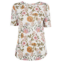 Buy Oasis Opium Print Top, Mid Grey Online at johnlewis.com