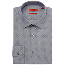 Buy HUGO by Hugo Boss Jenno Dobby Slim Fit Shirt, Navy Online at johnlewis.com