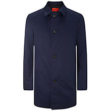 Buy HUGO by Hugo Boss Dais Mac Overcoat, Dark Blue Online at johnlewis.com