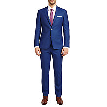 Buy HUGO by Hugo Boss C-Hutson1/C-Gander Virgin Wool Slim Fit Suit, Medium Blue Online at johnlewis.com