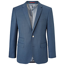 Buy HUGO by Hugo Boss C-Sweet1 Diagonal Twill Regiular Fit Blazer, Medium Blue Online at johnlewis.com