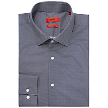 Buy HUGO by Hugo Boss Jenno Slim Fit Shirt, Navy/White Online at johnlewis.com