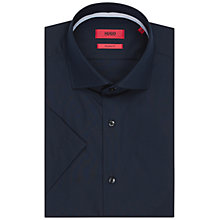 Buy HUGO by Hugo Boss Ceraldino Short Sleeve Shirt, Navy Online at johnlewis.com