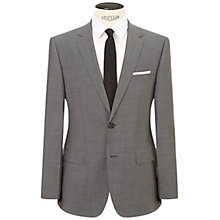 Buy HUGO by Hugo Boss Keys Shaft Virgin Wool Fil a Fil Regular Fit Suit, Medium Grey Online at johnlewis.com