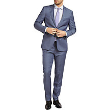 Buy HUGO by Hugo Boss C-Keys1/C-Shaft1 Pindot Regular Fit Suit, Medium Blue Online at johnlewis.com