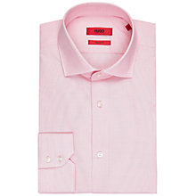 Buy HUGO by Hugo Boss Gordon Fil a Fil Regular Fit Shirt, Light/Pastel Red Online at johnlewis.com