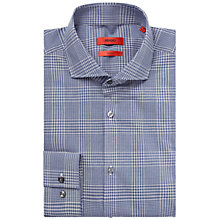 Buy HUGO by Hugo Boss Jason Slim Fit Check Shirt, Navy/White Online at johnlewis.com