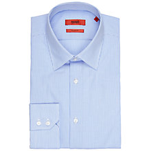 Buy HUGO by Hugo Boss Cenzo Stripe Regular Fit Shirt, Light/Pastel Blue Online at johnlewis.com
