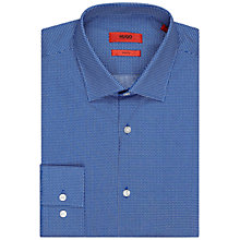 Buy HUGO by Hugo Boss Jenno Screw Print Slim Fit Shirt, Bright Blue Online at johnlewis.com
