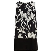 Buy Coast Aleve Printed Tunic Top, Black/White Online at johnlewis.com