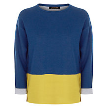 Buy Jaeger Colour Block Sweater, Midnight Online at johnlewis.com