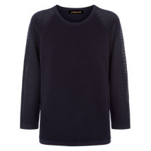 Buy Jaeger Ottoman Stripe Sweater, Midnight Online at johnlewis.com