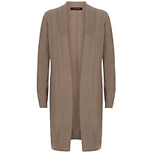 Buy Jaeger Silk Wool Drape Neck Cardigan, Khaki Online at johnlewis.com