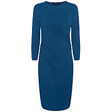 Buy Jaeger Ponte Jersey Drape Dress, Teal Online at johnlewis.com