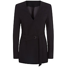 Buy Jaeger Belted Tailored Jacket, Black Online at johnlewis.com