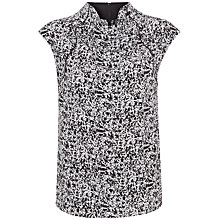 Buy Jaeger Marble Print Silk Top, Black/White Online at johnlewis.com