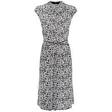 Buy Jaeger Marble Silk Dress, Black/White Online at johnlewis.com