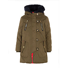 Buy John Lewis Girls' Parka Coat, Khaki Online at johnlewis.com