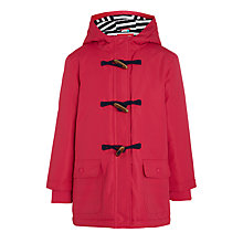Buy John Lewis Girls' Jersey Lined Mac Coat, Pink Online at johnlewis.com