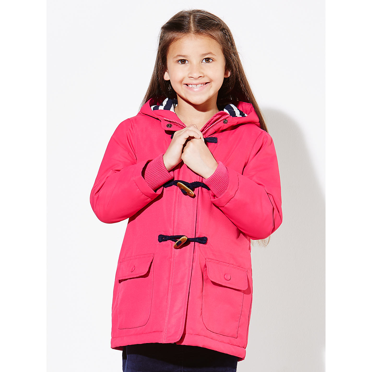 Buy John Lewis Girls&39 Jersey Lined Mac Coat Pink | John Lewis