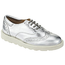 Buy John Lewis Children's Amie Brogues, Silver Metallic Online at johnlewis.com