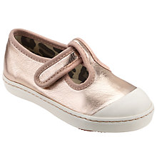 Buy John Lewis Children's Tilly T-Bar Shoes, Rose Gold Online at johnlewis.com