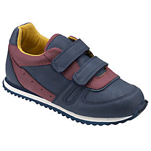 Buy John Lewis Children's Justin Double Rip Tape Trainers, Navy Online at johnlewis.com