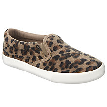 Buy John Lewis Children's Pheobe Animal Print Slip On Shoes, Animal Print Online at johnlewis.com