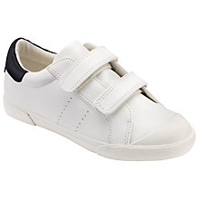 Buy John Lewis Children's Marco Double Rip Tape Trainers, White Online at johnlewis.com